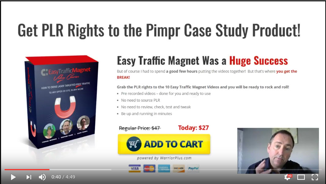 Pimpr – Easy Traffic Magnet PLR Offer (& Done For You OTO)