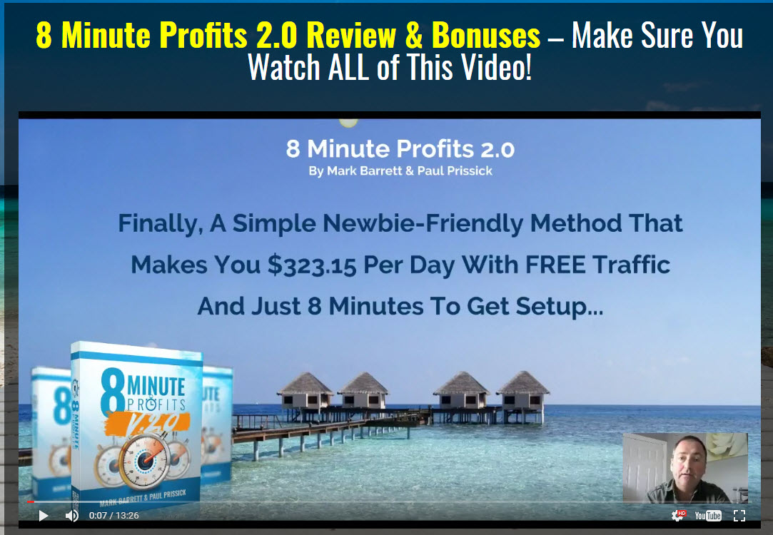 8 Minute Profits 2.0 Review and Bonuses
