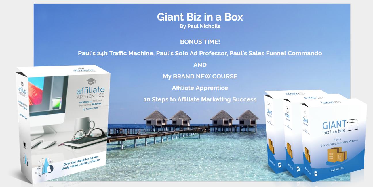 Giant Biz in a Box Bonuses