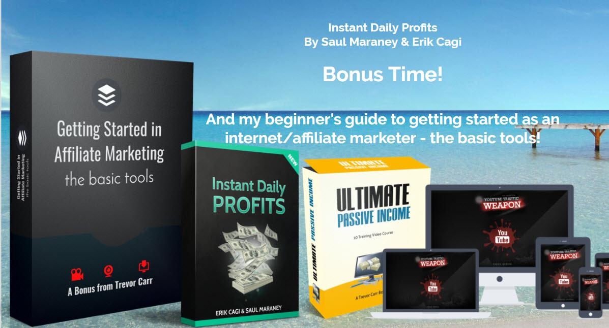 Instant Daily Profits Review & Bonuses