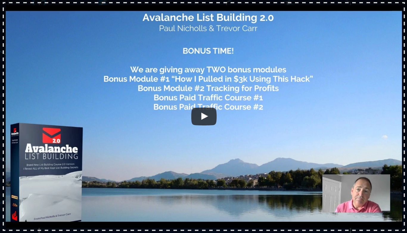 Avalanche List Building 2.0 Review & Bonuses