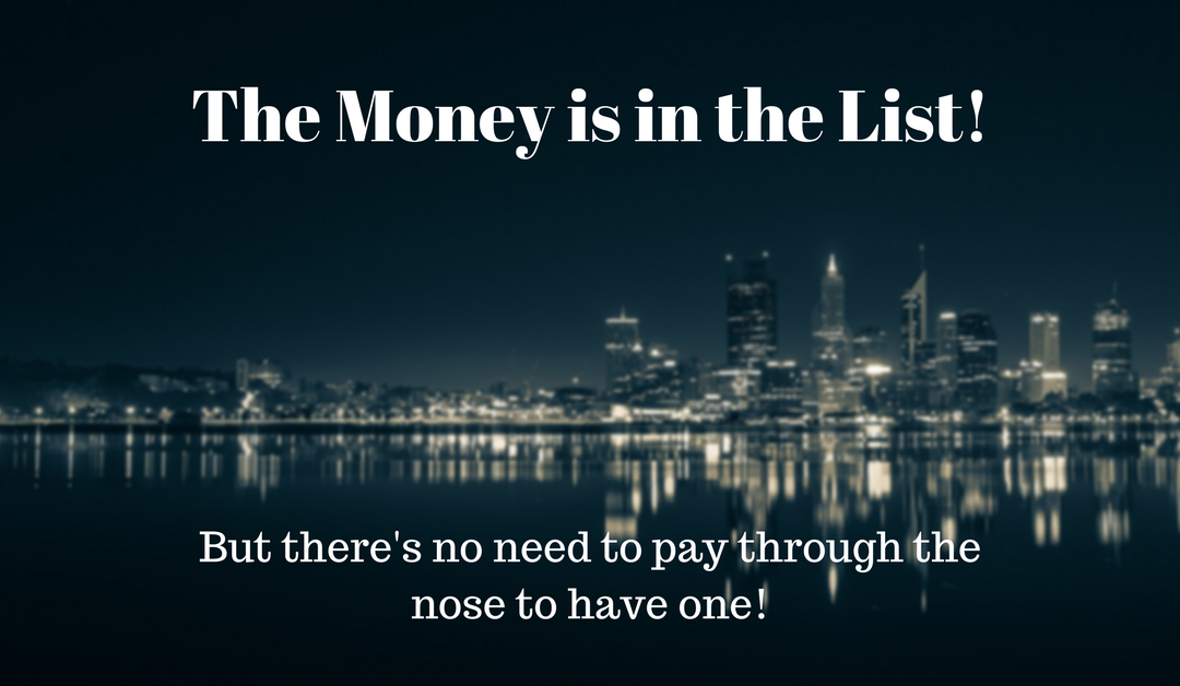 The Money Is In The List